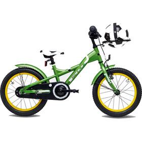 s'cool XXlite soccer 16 Børnecykel steel grøn
